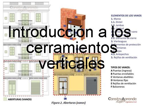 Introducci n a los cerramientos verticales for Significado exterior