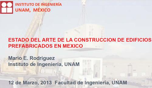 Estado del arte en la construcción de edificios prefabricados en México