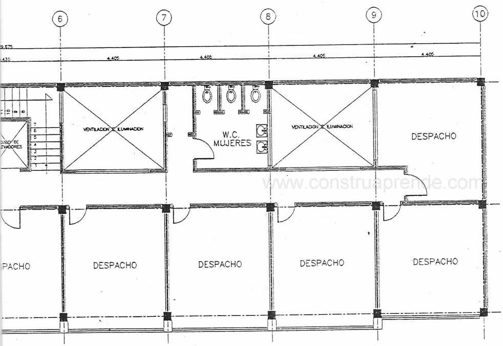 Trabajo 14 dise o estructural de un edificio oficinas for Estructuras para viveros plantas