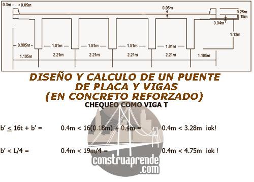 Dise O Y Calculo De Puente De Placa Y Vigas